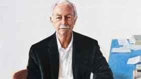 Fragmento del retrato de Eduardo Mendoza realizado por Leticia Feduchi.