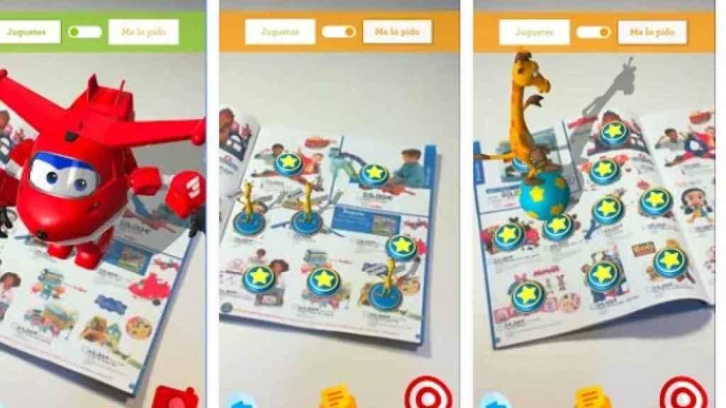 La 'app' de Toys R Us permite ver en realidad aumentada algunos de los juguetes del catálogo.
