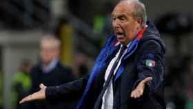 Ventura, en el partido de Italia ante Suecia.