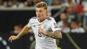 Kroos durante el partido de la selección alemana