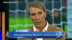 Lobo Carrasco da su opinión en El Chiringuito. Foto: Twitter (@elchiringuitotv)