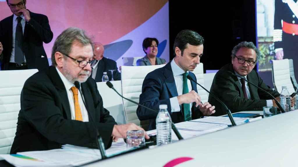 Junta general extraordinaria de accionistas de Prisa del pasado mes de noviembre, la última con Juan Luis Cebrián como presidente ejecutivo.