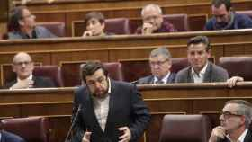 Miguel Gutiérrez (Cs) ha preguntado este miércoles a Zoido por la equiparación salarial.