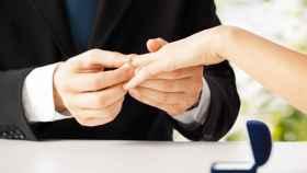 La infidelidad, muy lejos en el momento de la boda.