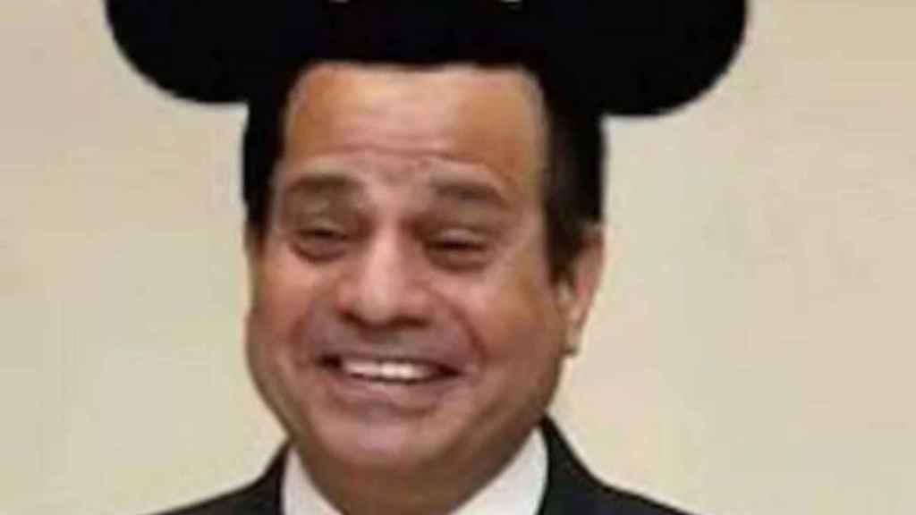 Montaje del presidente Al Sisi con las orejas de Mickey Mouse. El autor fue condenado a tres años de prisión.