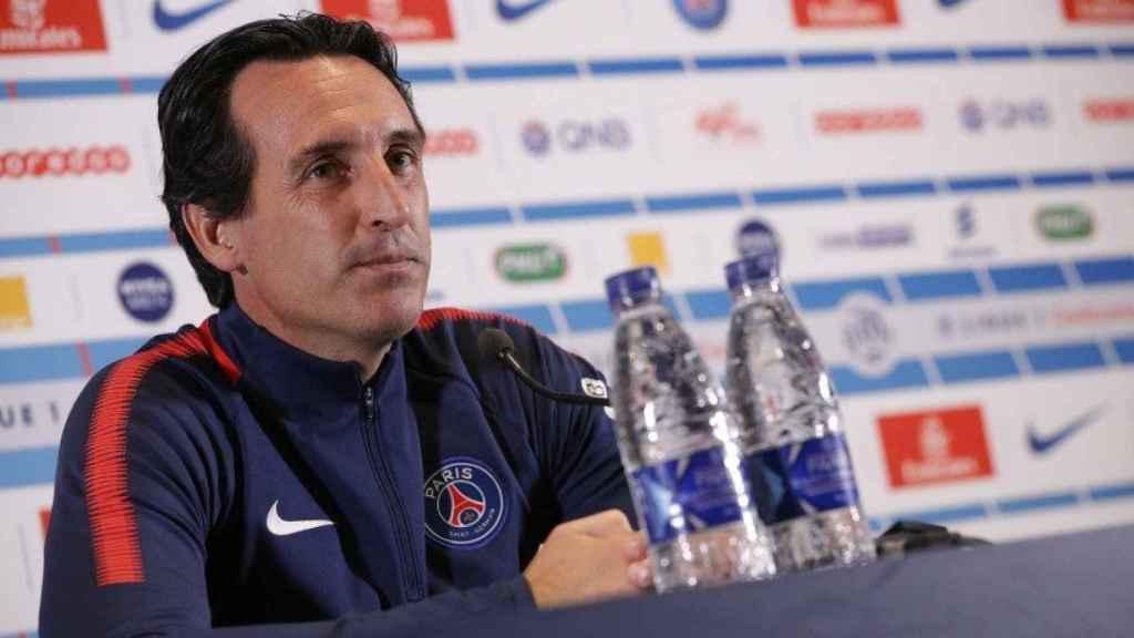 Emery en rueda de prensa. Foto psg.fr