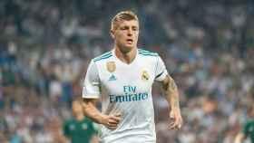 Kroos, concentrado en el Bernabéu. Foto: Pedro Rodríguez / El Bernabéu