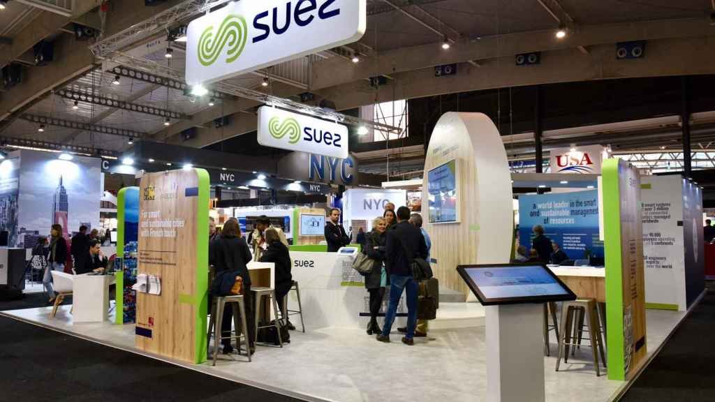 Stand de Suez en el SCEWC