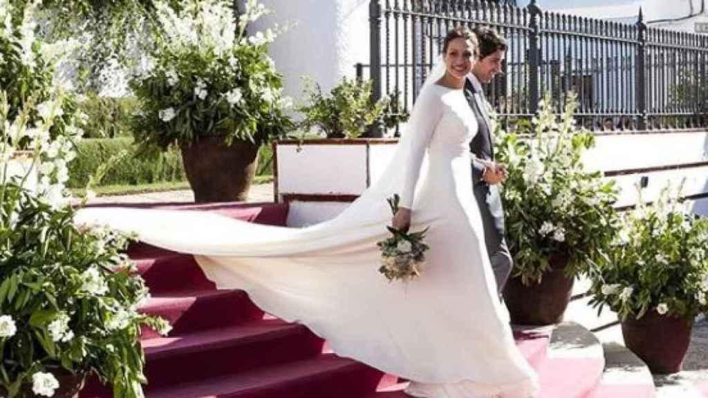 Eva González y Cayetano Rivera el día de su boda.