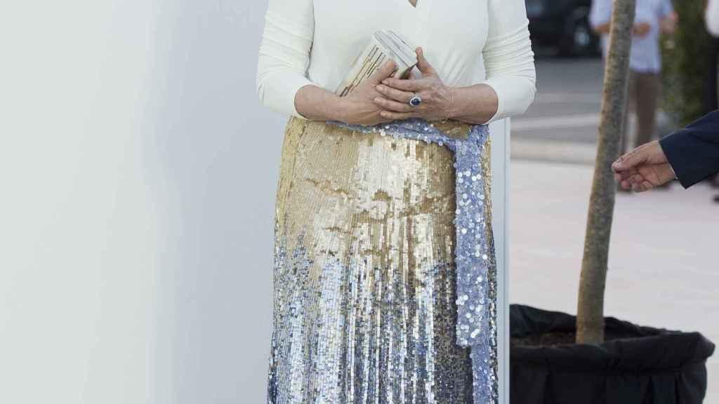 Carmen a la llegada de un evento.