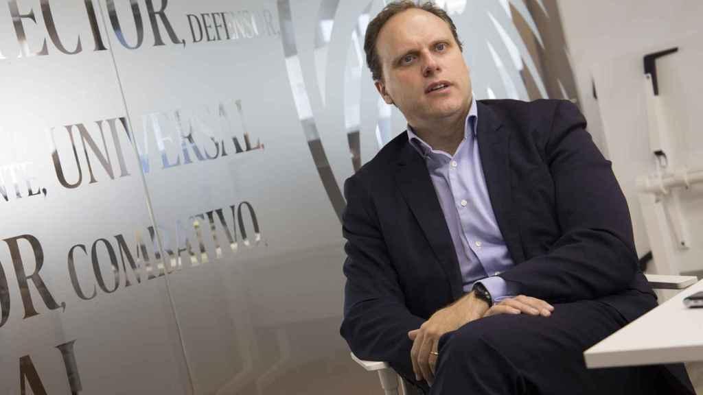 El economista Daniel Lacalle en la redacción de EL ESPAÑOL.