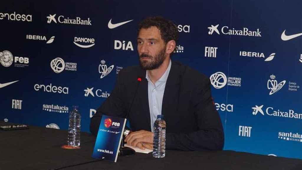 Jorge Garbajosa en la rueda de prensa de este viernes.