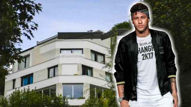 Neymar y su ya antigua casa de París.