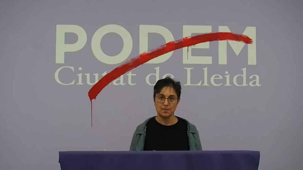 Imagen del vídeo donde los dirigentes de Podem Lérida explican su dimisión.