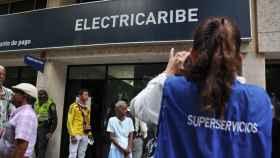 Un momento de la intervención de Electricaribe en noviembre de 2015.