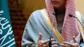Adel bin Ahmed al Jubeir, durante su rueda de prensa en Exteriores este viernes