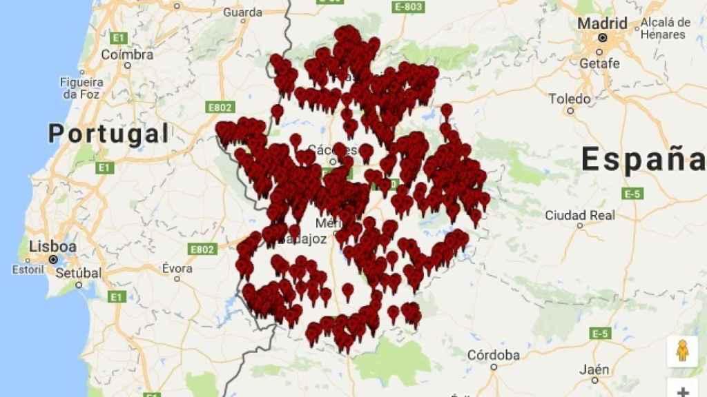 Focos de seca detectados en Extremadura.