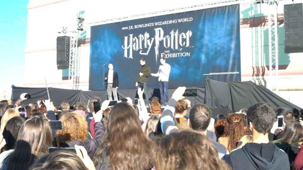Los gemelos Weasley inauguran la exposición de Harry Potter