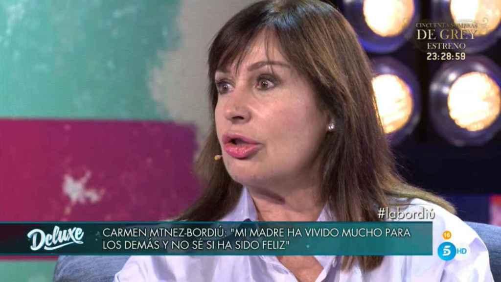Carmen Martínez-Bordiú en 'Sábado Deluxe'.
