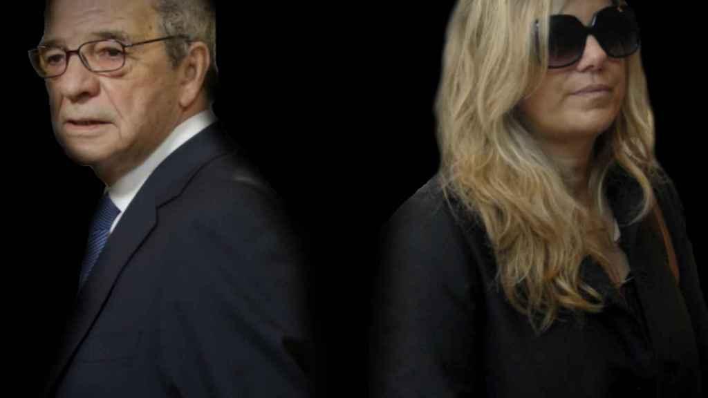 Isabel Sartorius y César Alierta en un montaje.