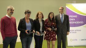 De izquierda a derecha, Sergio Brihuega,  Ana Macpherson, Gisela Pérez, Azucena Martín y Enrique Ordieres.