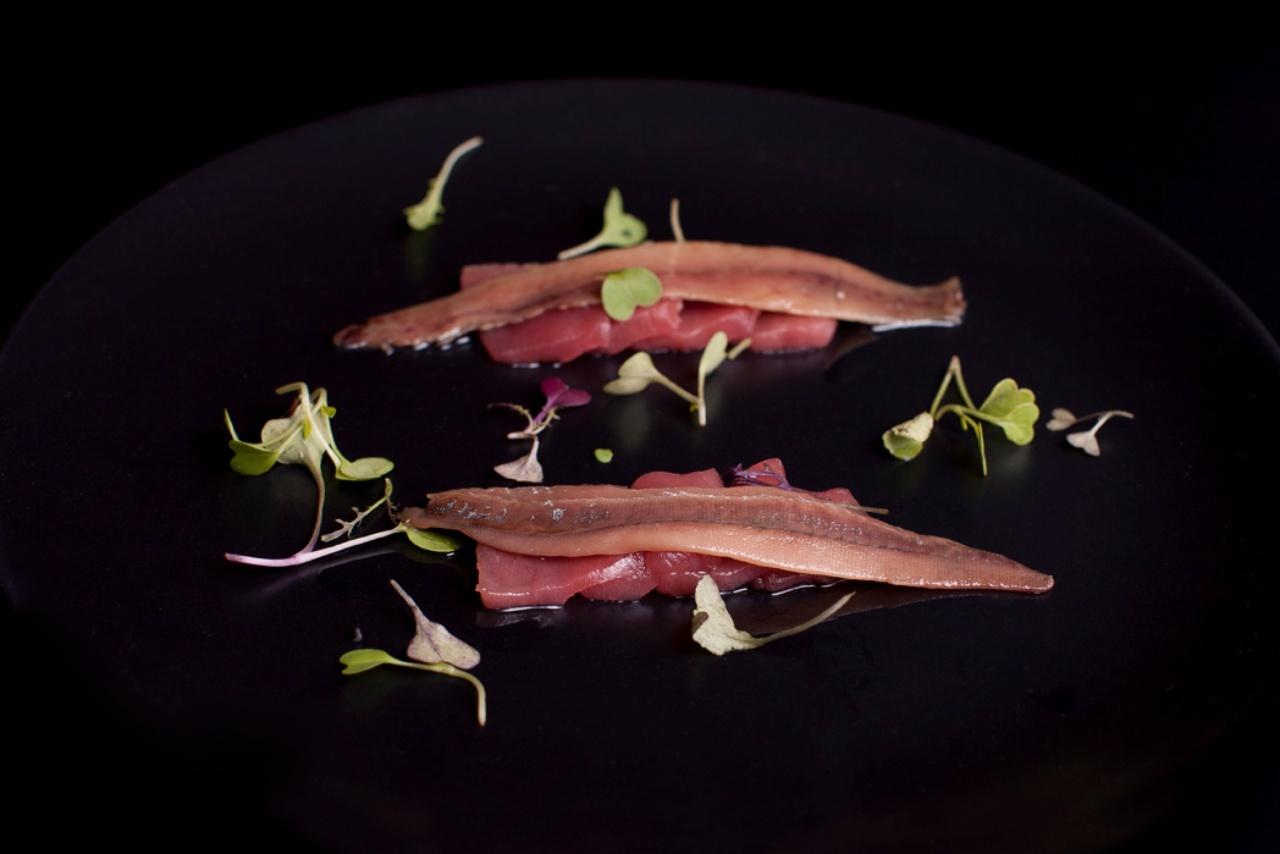 La Tasquita de Enfrente - Lomos de anchoa con atún rojo