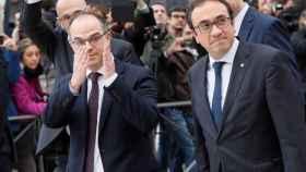 Los exmiembros del Govern Jordi Turull y Josep Rull.