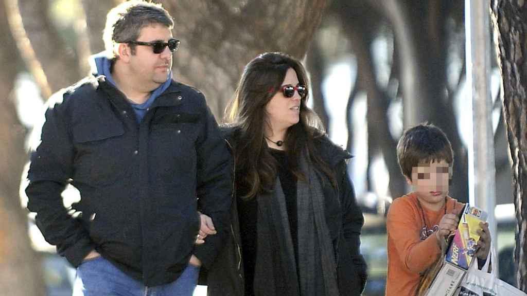 'Flo' junto a su mujer Lidia y su hijo Juan