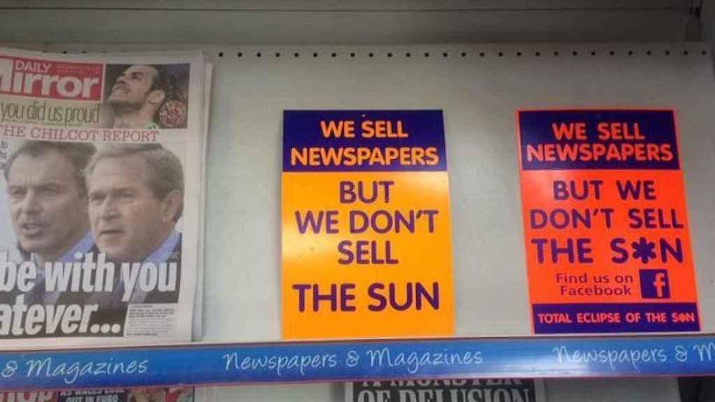 Vendemos periódicos, no vendemos The Sun