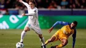 Modric durante un momento del partido