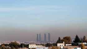 Panorámica de Madrid con su contaminación.
