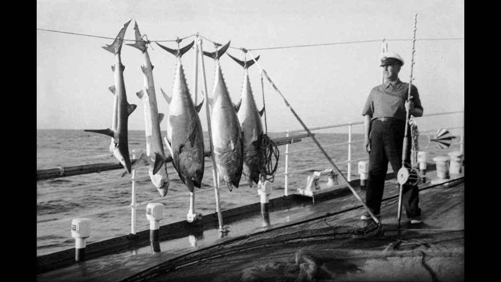 Franco, durante una jornada de pesca.
