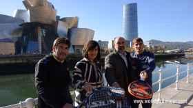 Cristian Gutiérrez, Oihane Agirregoitia, Luis Torres y Franco Stupaczuk.