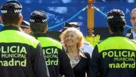 Manuela Carmena, en un acto de la Policía.