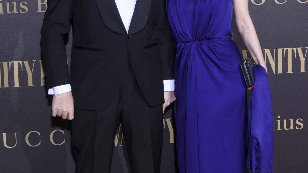 Pedro J. Ramírez y Cruz Sánchez de Lara, en la entrega del premio Personalidad del Año de 'Vanity Fair'.