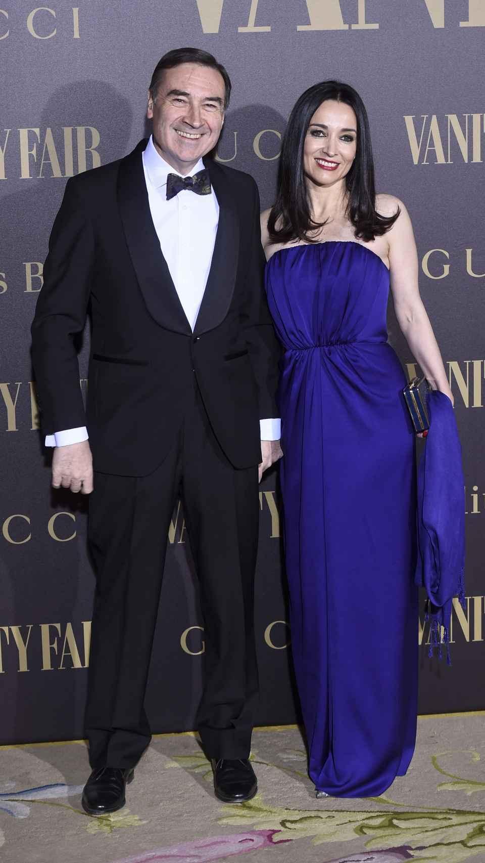 Pedro J. Ramírez y Cruz Sánchez de Lara, el martes por la noche, en la entrega del premio Personalidad del Año de 'Vanity Fair'.