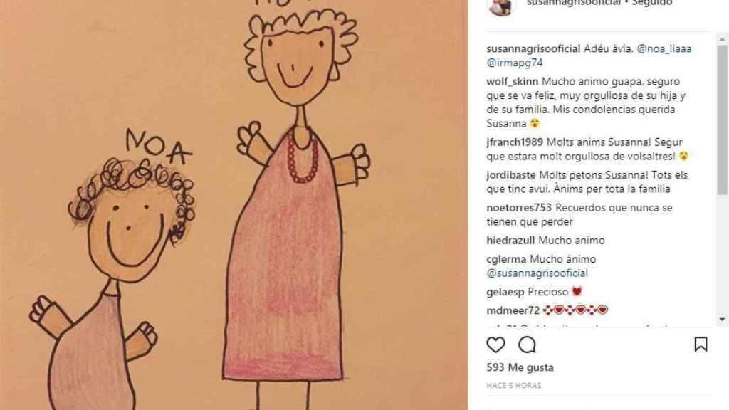 El dibujo de la hija de Susanna Griso en las redes sociales.