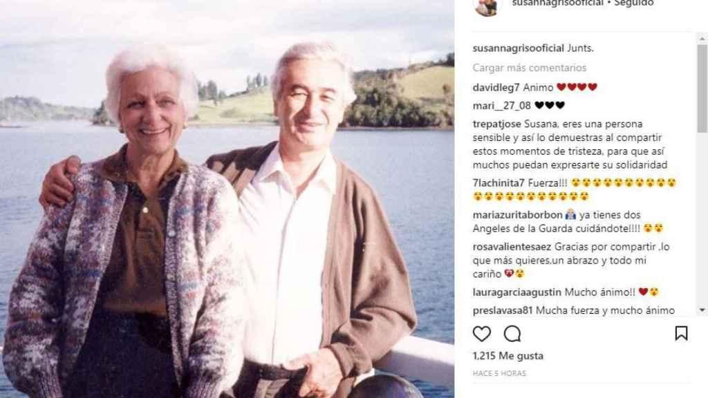 Los padres de Susanna Griso en una imagen de su Instagram.