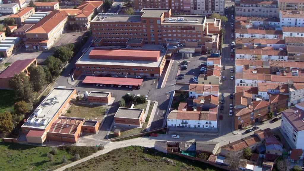 El Hospital de Coria, desde el aire.