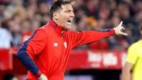 Eduardo Berizzo durante un partido con el Sevilla.
