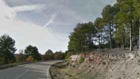 Lugar donde ha caído la roca. Foto: Google