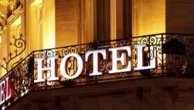 Imagen de archivo de la fachada de un hotel en Barcelona