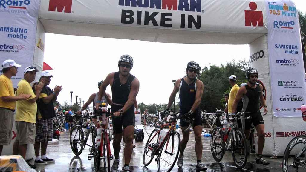 Celebración de una prueba de triatlón Ironman, en Miami.