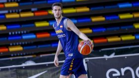 Xabi López-Arostegui, el más joven de la selección en la primera ventana FIBA.