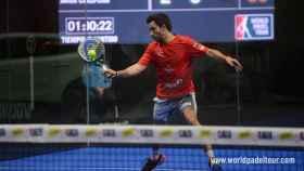 Sanyo Gutiérrez en octavos de final del Bilbao Open.