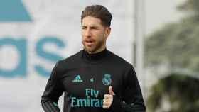 Ramos se entrena en Valdebebas