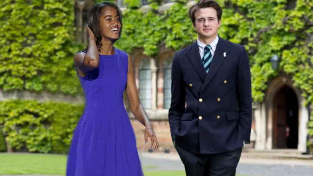 Malia Obama y Rory Farguharson, en un montaje de JALEOS.