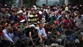 Un campo campo de refugiados de Grecia.