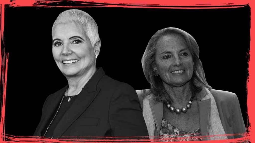 La vicepresidenta de la firma de joyería,  Rosa Tous, y la mujer del expresident Mas, Helena Rakosnik