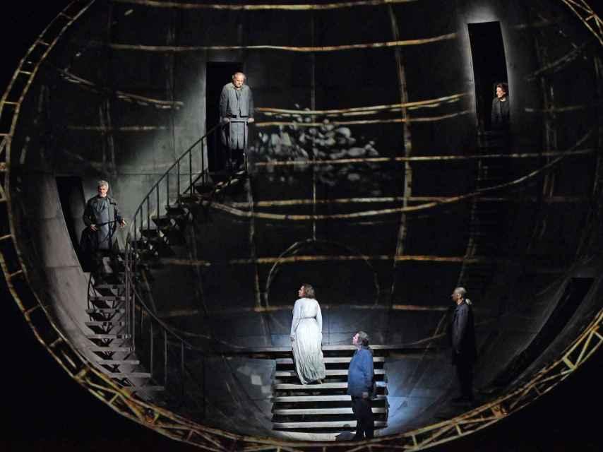 Momento de Tristán e Isolda, que este martes se estrena en el Liceu.